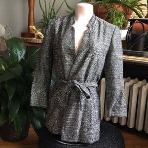 H&M Tie Front Blazer